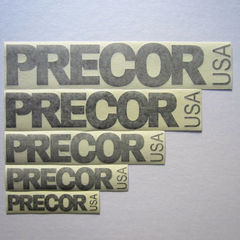 Precor USA Decals Black