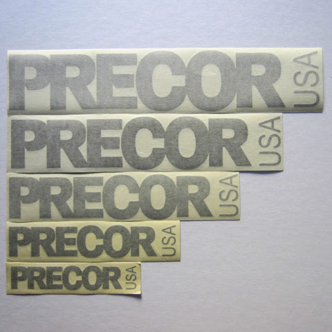 Precor USA Decals Silver