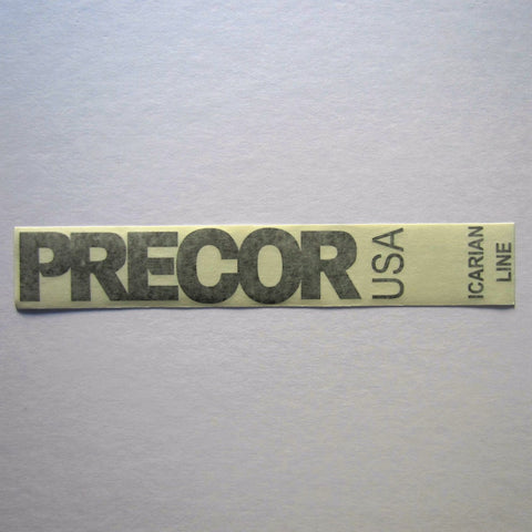 "Precor USA Icarian Line Decal 13-1/2"" x 2"""