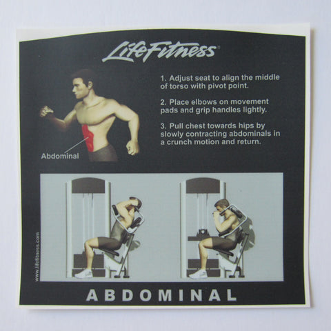 Life Fitness Signature Abdominal Instruction Decal