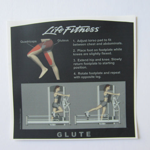 Life Fitness Signature Glute Instruction Decal