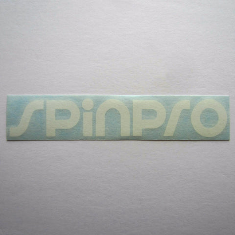 "SpinPro Decal White 7"" x 1-1/4"""