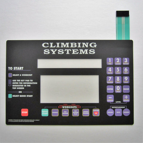 StairMaster 4600 PT/CL Display Overlay Keypad