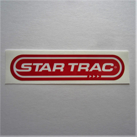 "Star Trac Frame Decal 7-1/2"" x 1-3/4"""