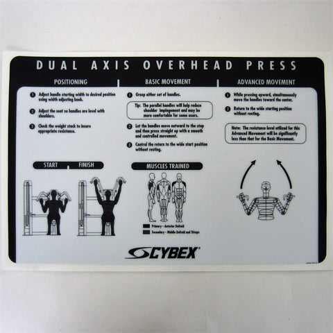 Cybex VR2 Dual Axis Overhead Press