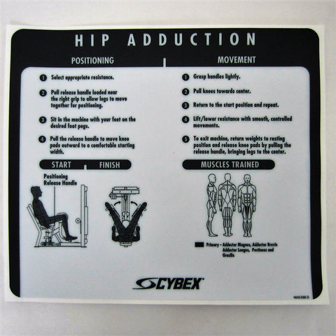 Cybex VR2 Hip Adduction