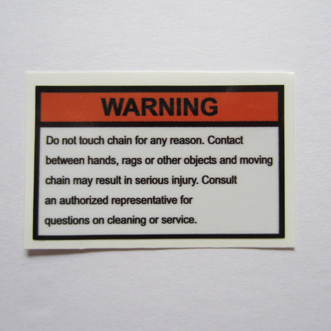 "Warning Decal 2-1/2"" x 1-1/2"""