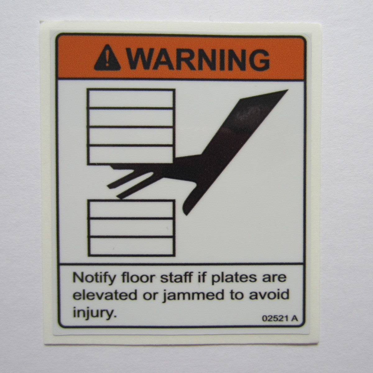"Warning Decal 3-1/4"" x 2-3/4"""