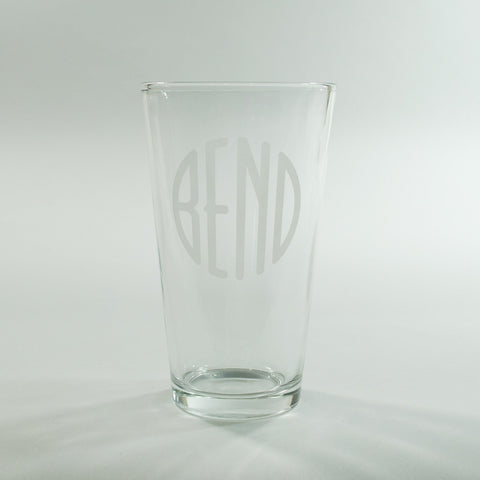 """BEND Logo"" Pint Glass - Simply Bend Souvenirs"