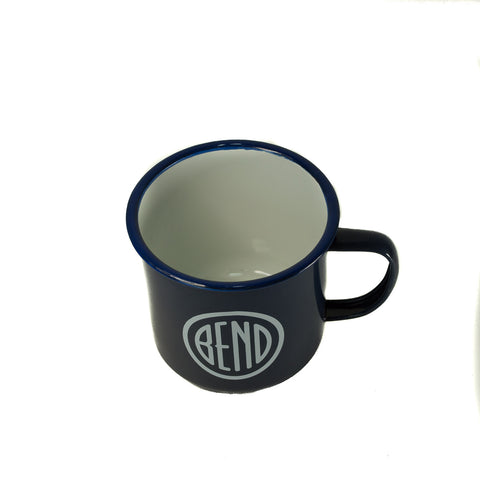 Blue BEND Logo Tin Cup - Simply Bend Souvenirs