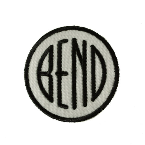 Black and White Bend Oregon logo souvenir patch