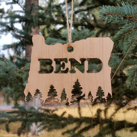 BEND Treeline Ornament - Simply Bend Souvenirs
