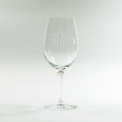 BEND Logo Red Wine Glass - Simply Bend Souvenirs