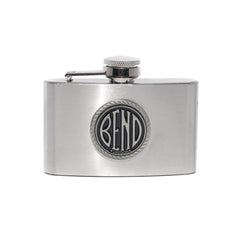 3 Ounce BEND Logo Flask - Simply Bend Souvenirs