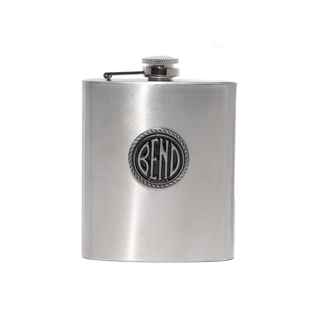 7 Ounce BEND Logo Flask - Simply Bend Souvenirs
