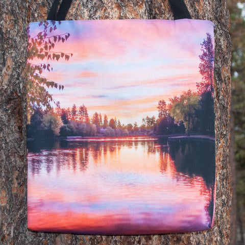 Sunset on Mirror Pond Tote - Simply Bend Souvenirs