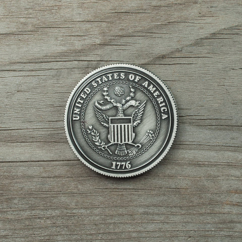 City of Bend, Oregon logo souvenir coin, double sided.