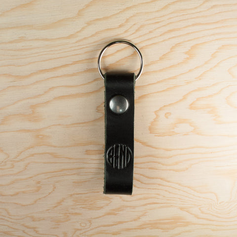 "Handmade ""BEND"" Logo Leather Keychain - Simply Bend Souvenirs"