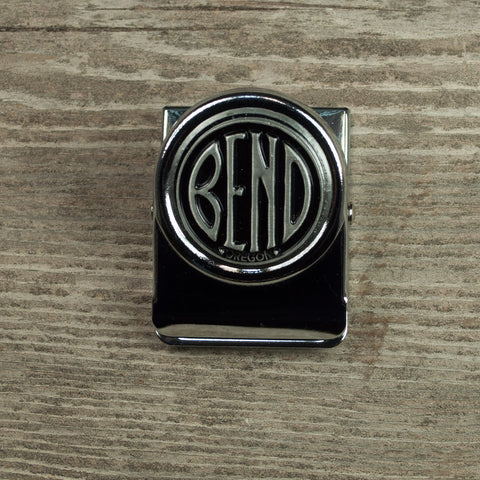 City of Bend, Oregon logo, souvenir magnet clip.