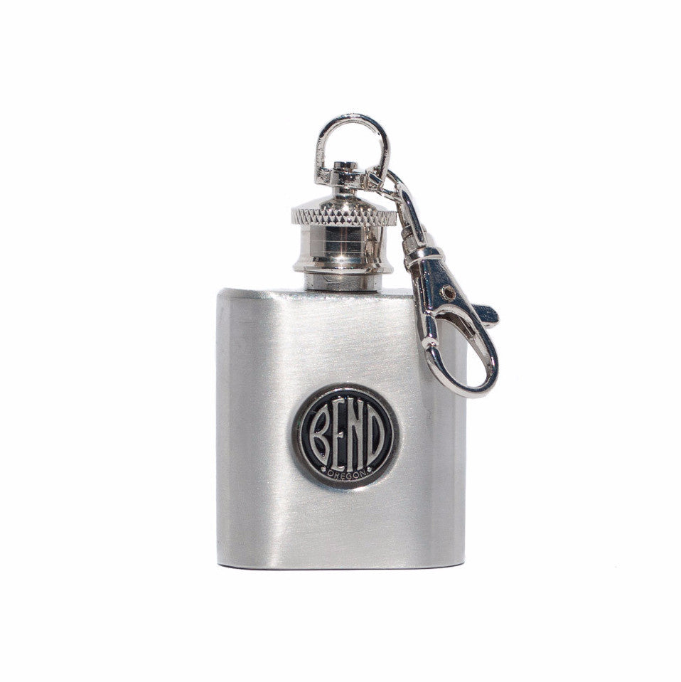 1 Ounce BEND Logo Flask - Simply Bend Souvenirs