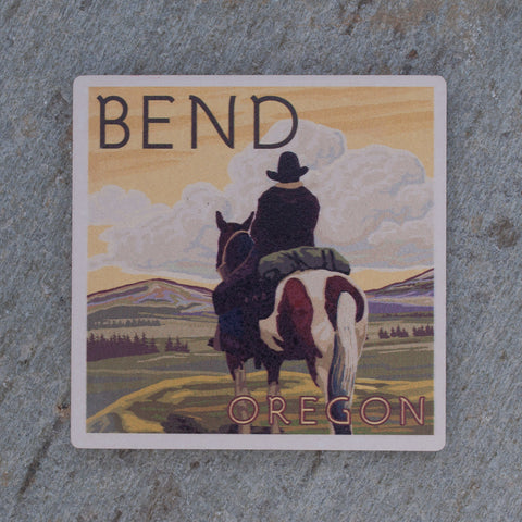 Bend Oregon Cowboy Coaster - Simply Bend Souvenirs