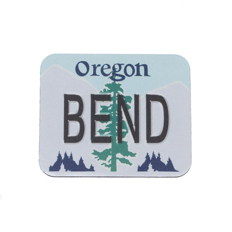BEND Oregon License Plate Mouse Pad