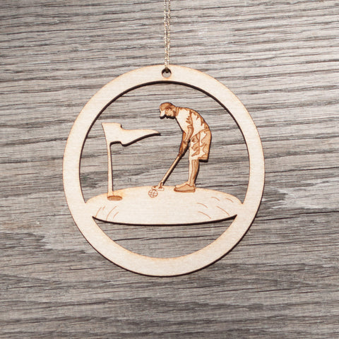 Golfer Ornament - Simply Bend Souvenirs