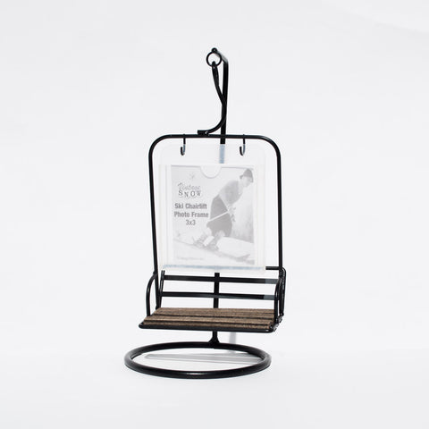 Vintage 2 seater ski chairlift photo frame