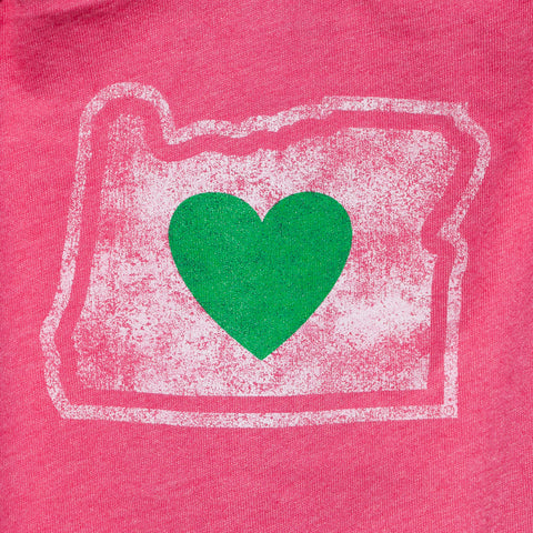 Heart in Oregon Onesie - Simply Bend Souvenirs