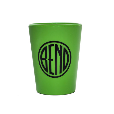 Green Silipint, Bend, Oregon, logo souvenir cup.