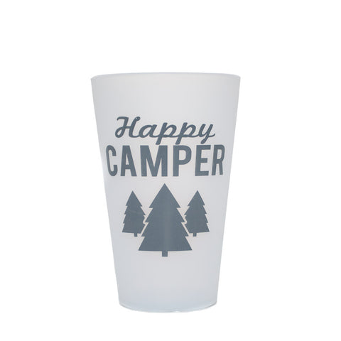 Happy Camper Silipint 16 Ounce Pint Cups - Simply Bend Souvenirs