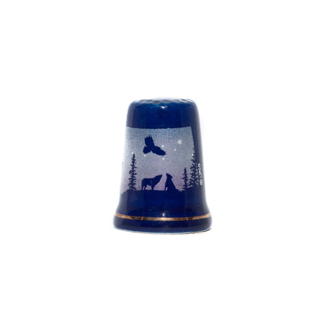 Ceramic, Bend, Oregon wildlife collector's thimble.