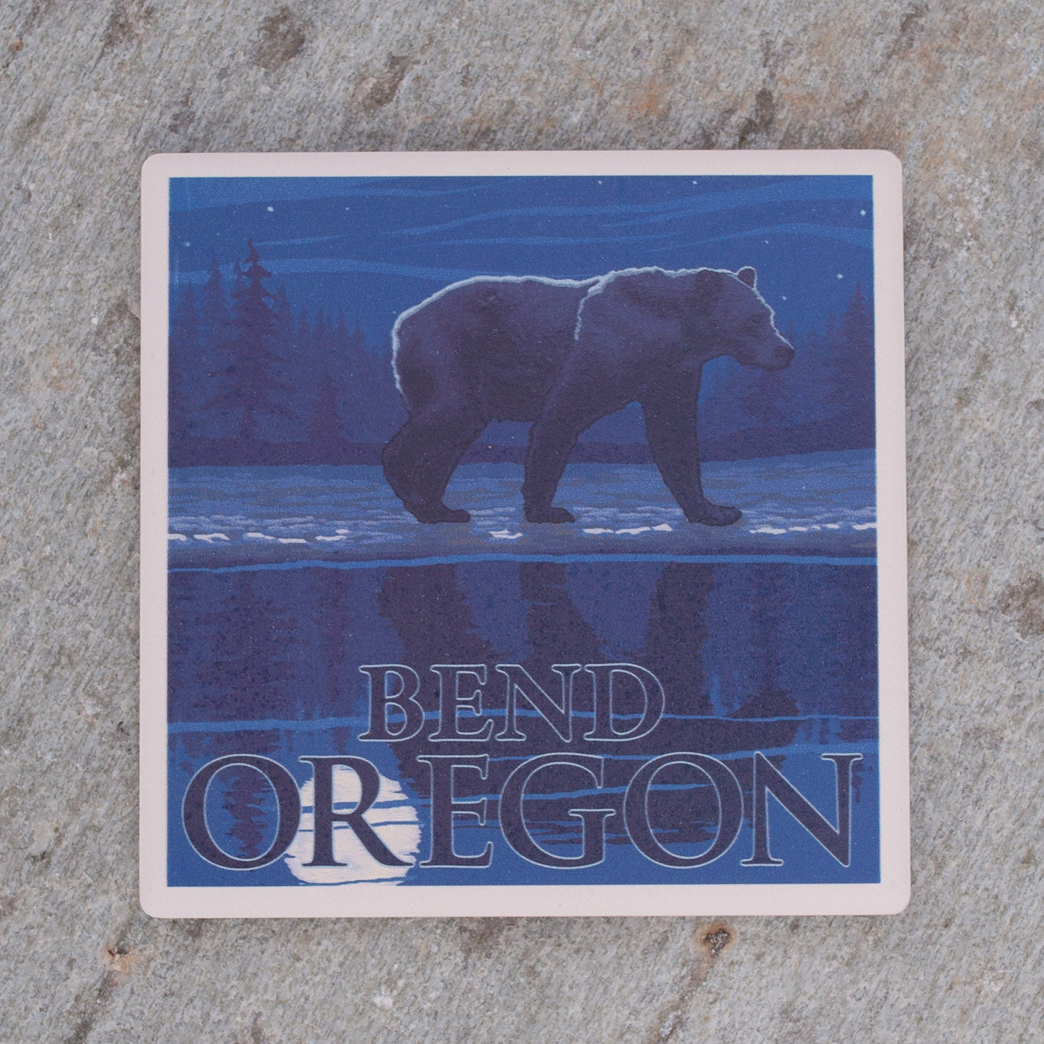 Full-Moon Bend Bear Coaster - Simply Bend Souvenirs