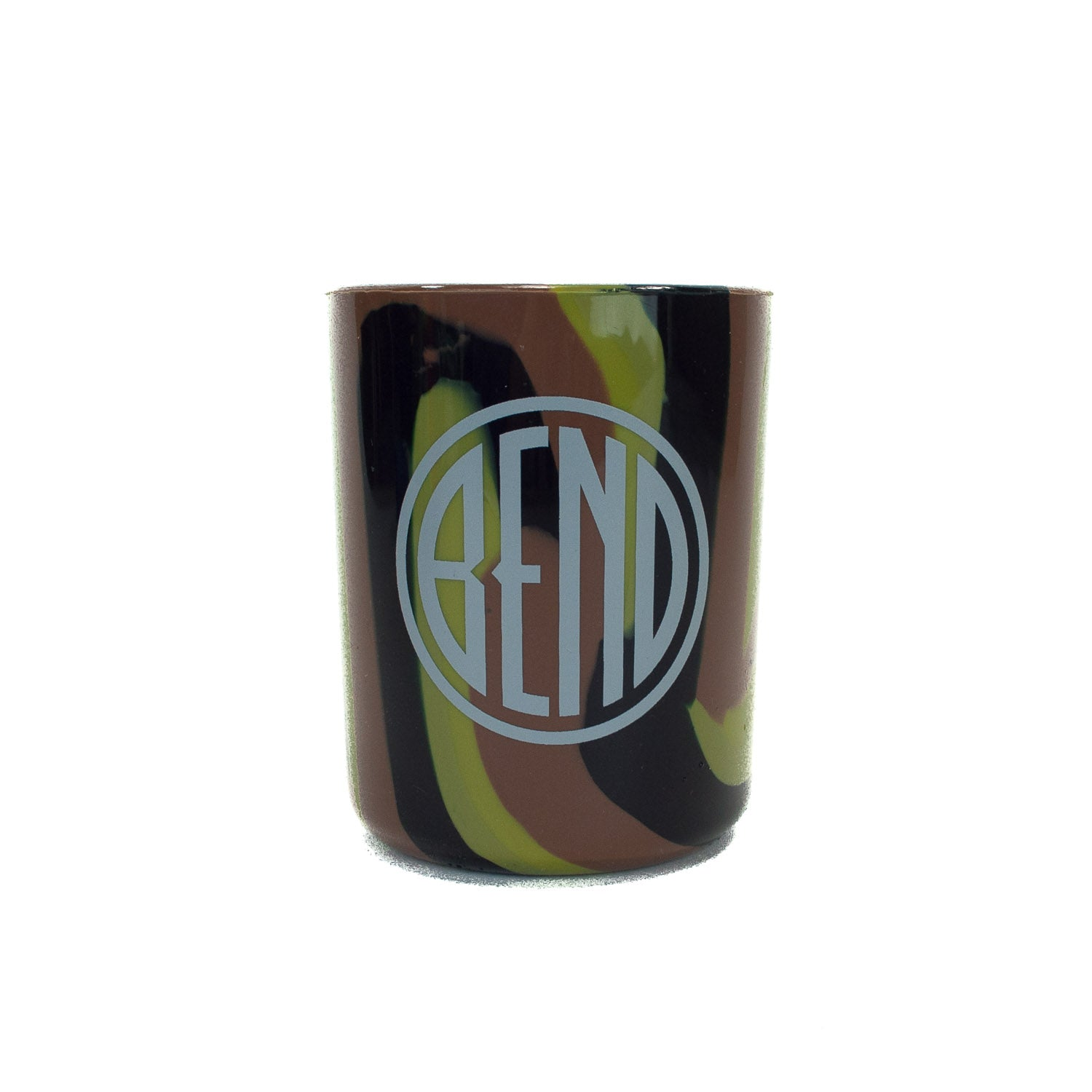 Souvenir Silipint camo color cup with Bend, Oregon logo