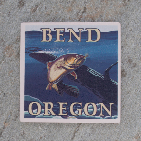 Bend Oregon Fishing Coaster - Simply Bend Souvenirs