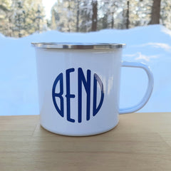 White BEND Logo Tin Cup