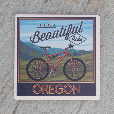 Life is a Beautiful Ride Coaster - Simply Bend Souvenirs
