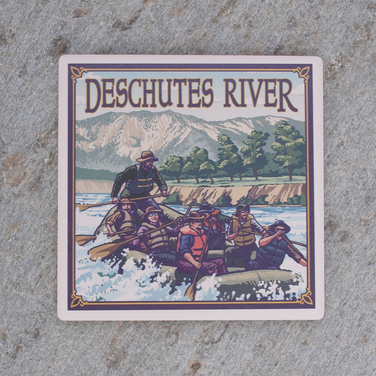Deschutes River Rafting Coaster - Simply Bend Souvenirs