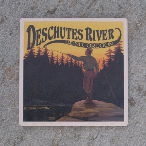 Deschutes River, Bend Oregon Fishing Coaster - Simply Bend Souvenirs