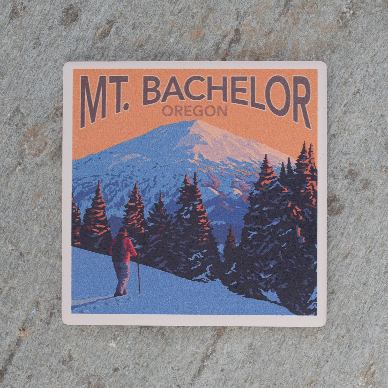 Winter on Mt. Bachelor Coaster - Simply Bend Souvenirs