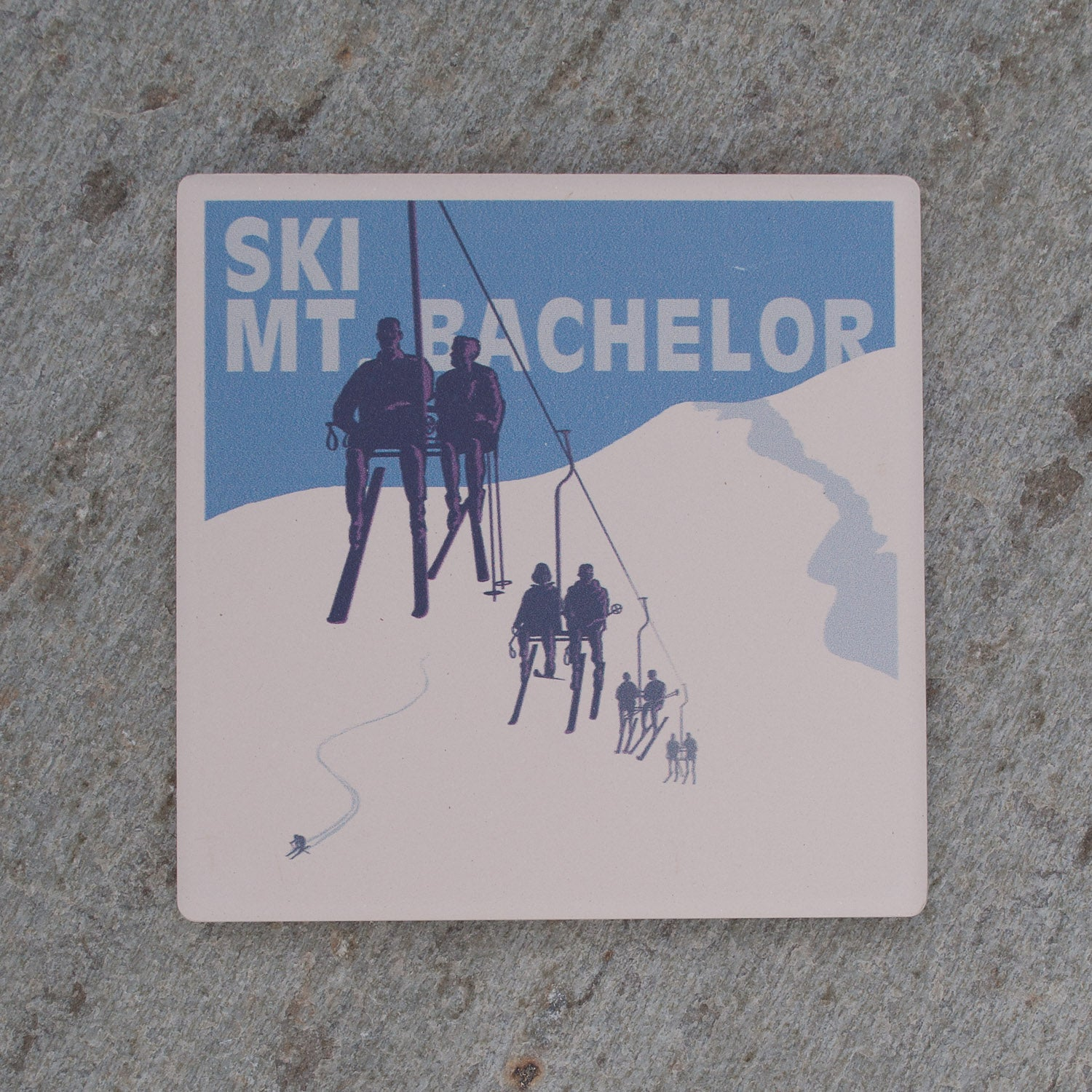 Ski Mt. Bachelor Coaster - Simply Bend Souvenirs