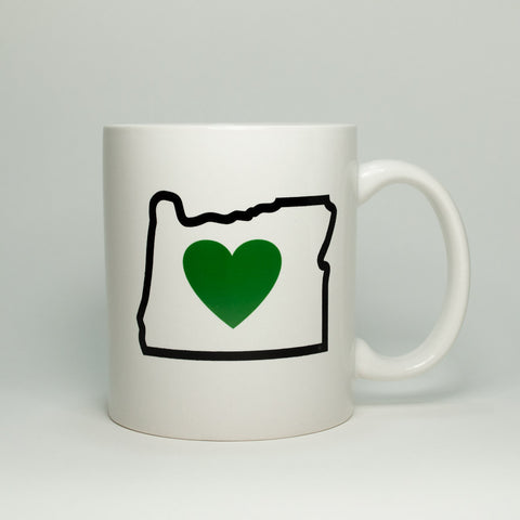 Bend, Oregon souvenir Heart in Oregon coffee mug.