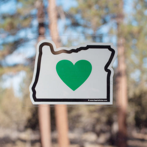 Heart in Oregon Window Cling - Simply Bend Souvenirs