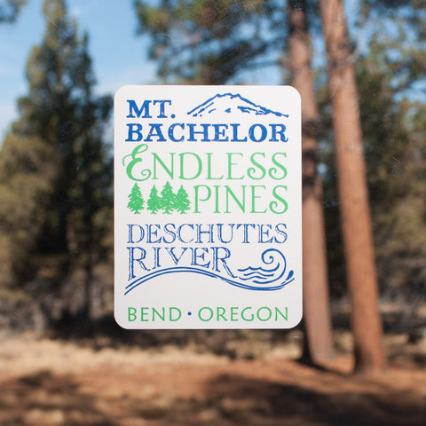 Endless Pines Decal - Simply Bend Souvenirs