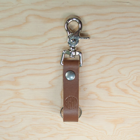 "Handmade ""BEND"" Logo Leather Keychains - Simply Bend Souvenirs"