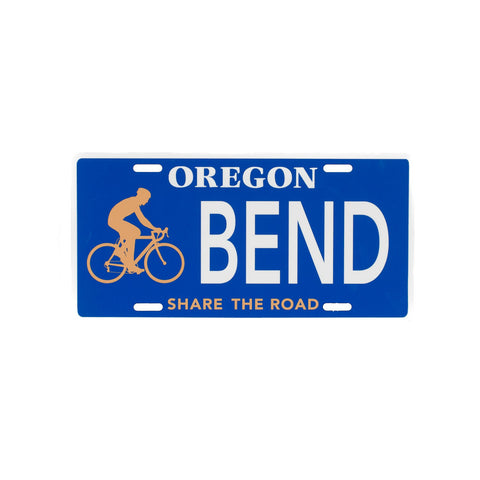 Biking Novelty Oregon License Plate - Simply Bend Souvenirs