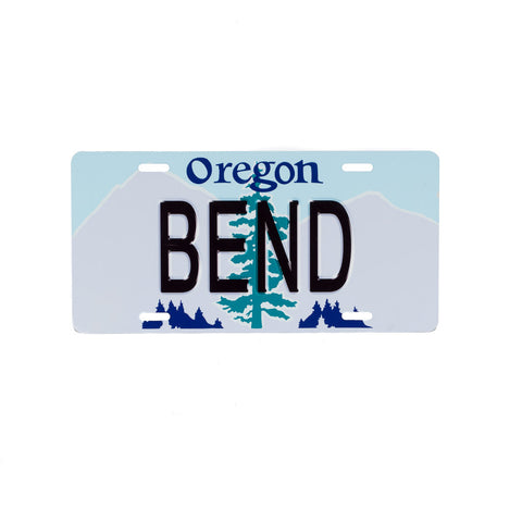 BEND Novelty License Plate - Simply Bend Souvenirs