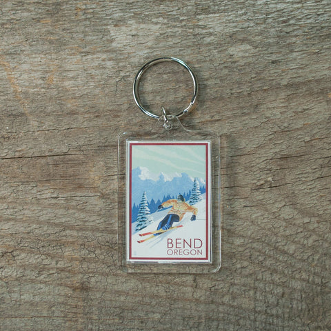Skiing Keychain - Simply Bend Souvenirs