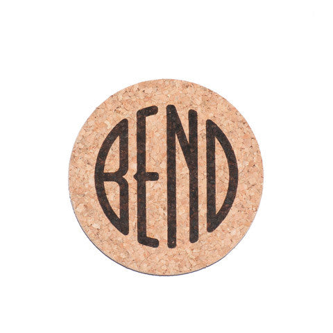 BEND Logo Cork Coaster - Simply Bend Souvenirs