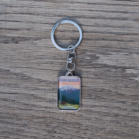 Mt. Bachelor Keychain - Simply Bend Souvenirs